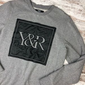Young & Reckless Gray Crew Neck Hoodie